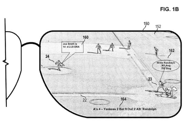 Microsoft patent application details headmounted display used to augment live events