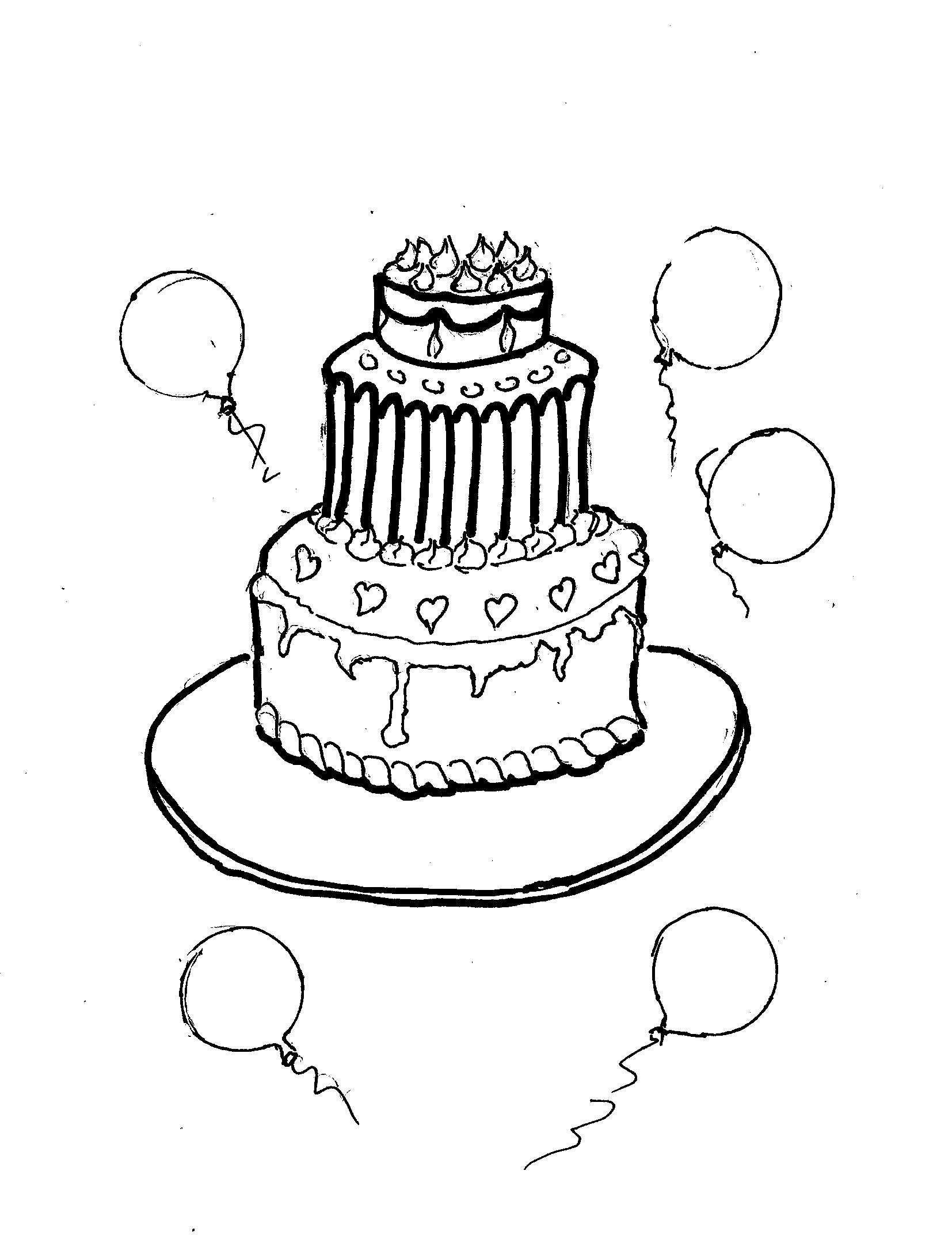 Disegni Da Colorare Bambini I Torta Di Compleanno