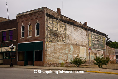Two Selz Shoes Ghost Signs, McLean County, Illinois