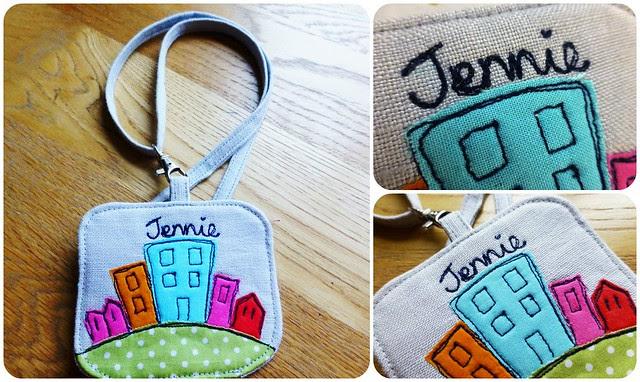 FQR13 Name tag for Jennie/Little Stitch