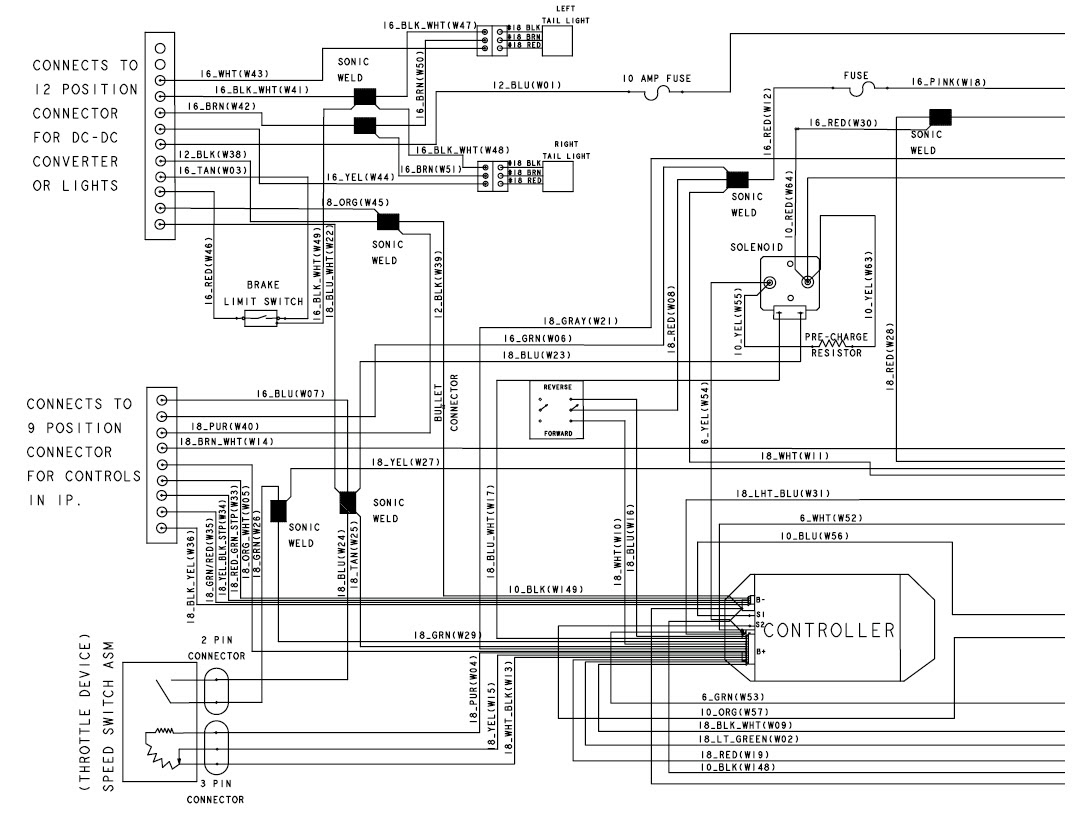 555a95 2007 Club Car Precedent 48 Volt Wiring Diagram Wiring Library