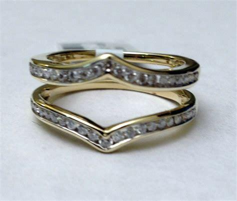 Solitaire Enhancer Round Diamonds Ring Guard Wrap 14k