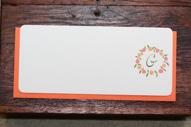 Monogram Floral Stationery