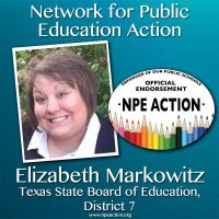 NPE Action Endorses Elizabeth Markowitz for the Texas State Board of Education