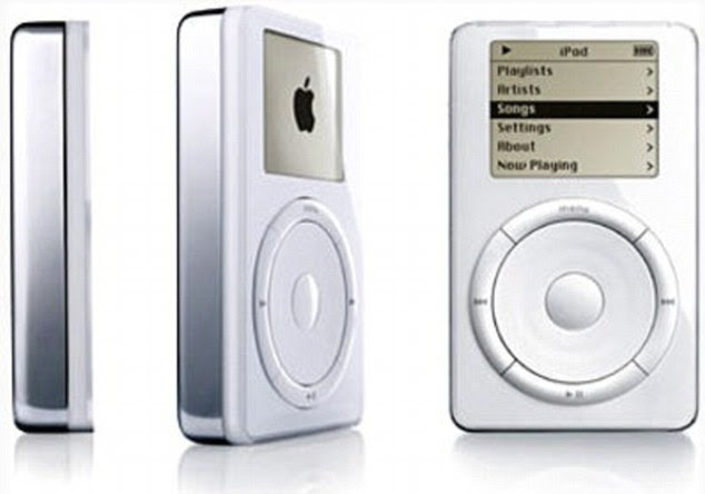 The first-generation iPod offered a mere 5Gb of memory - smaller than even the cheapest iPhone model today