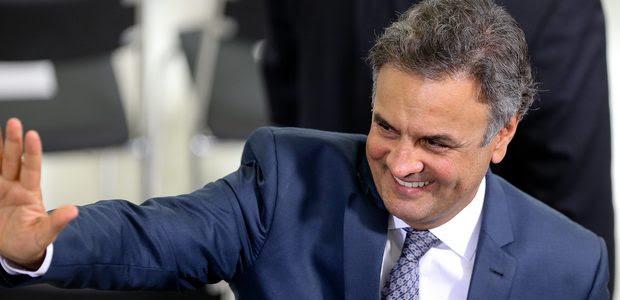 BRASÍLIA, DF, BRASIL, 09.11.2016. O senador Aécio Neves participa da cerimônia de lançamento do Cartão Reforma, no Palácio do Planalto.(FOTO Alan Marques/ Folhapress) PODER