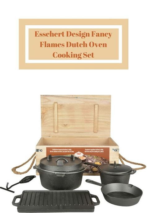 esschert design fancy flames dutch oven cooking set