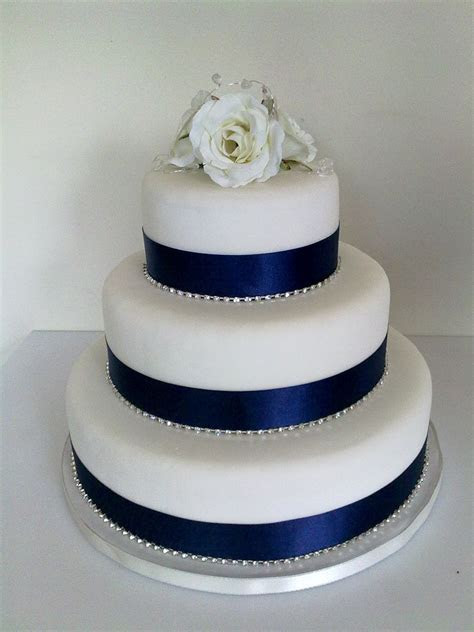 Navy Wedding Cake Decorations   Ribbon   CHWV   CHWV