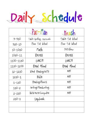 Daily Schedule Template Printable For Kids | Daily Planner