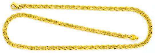 Foto 1, Stegpanzer Goldkette massiv Gelbgold Kette 18K/750 Neu!, K2260