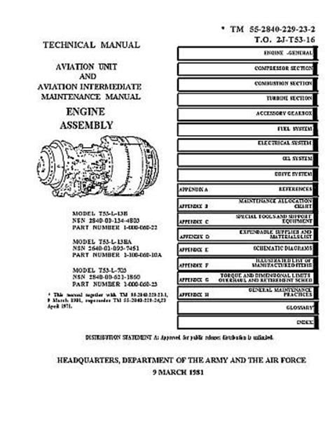 Lycoming T53-L-13B Turbine Aircraft Engines Manual TO 2J