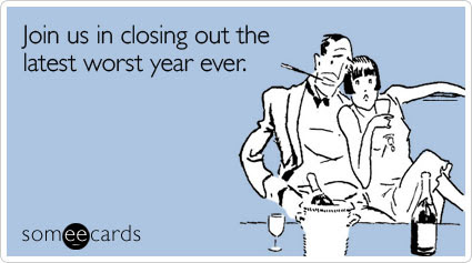 Funny New Year's Ecard: Join us in closing out the latest worst year ever.