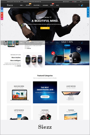 Siezz - Advanced Drag & Drop Responsive Shopify Theme