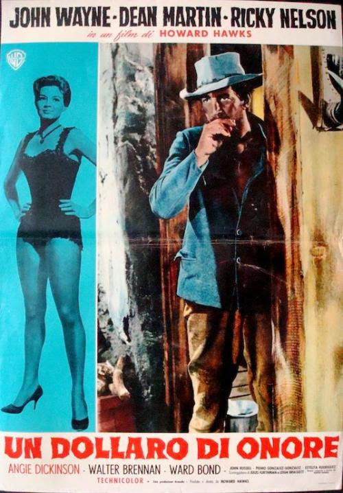 Rio Bravo Italian fotobusta movie poster (R1968-1959)