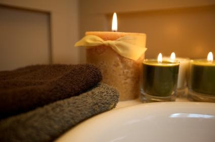 Create a Spa Sanctuary at Home - Bathroom decorating ideas