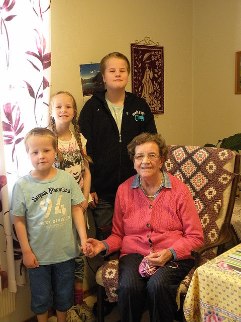 Great grandma is 90 years today!