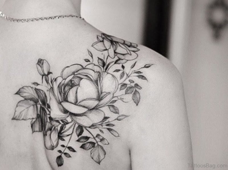 86 Amazing Black And White Tattoos On Shoulder