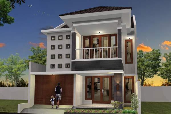 Contoh Rumah  Minimalis  2  Lantai 1 Desain Rumah  Minimalis