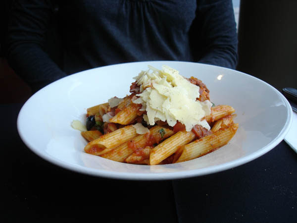 Kitschen (Canberra) - Penne with chorizo.