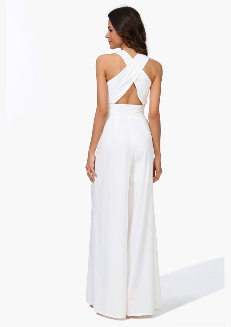 all white everything jumpsuit  my style  pinterest