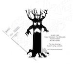 Scary Halloween Tree Silhouette Yard Art Woodworking Pattern - fee plans from WoodworkersWorkshop® Online Store - scary,Halloween,spooky trees,yard art,painting wood crafts,scrollsawing patterns,drawings,plywood,plywoodworking plans,woodworkers projects,workshop blueprints