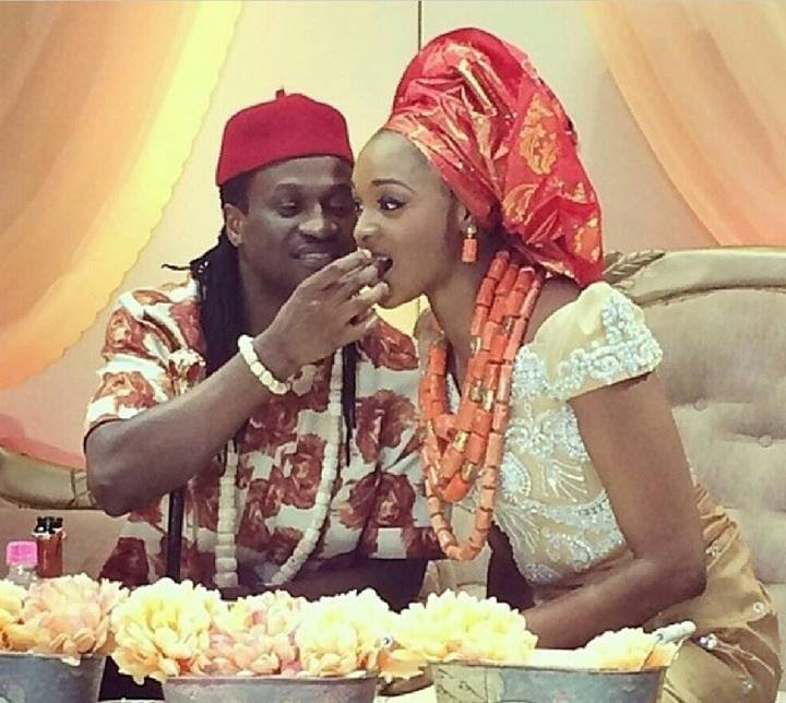 Image result for paul okoye and wife