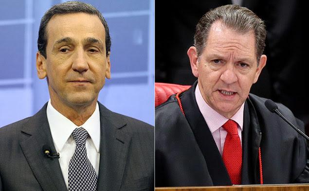 O presidente do STJ, Francisco Falcão (à esq.), e seu colega na corte, o ministro Otávio Noronha