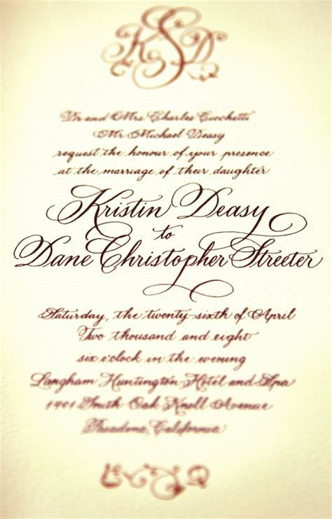 12 Font Styles For Wedding Invitations Images   Wedding