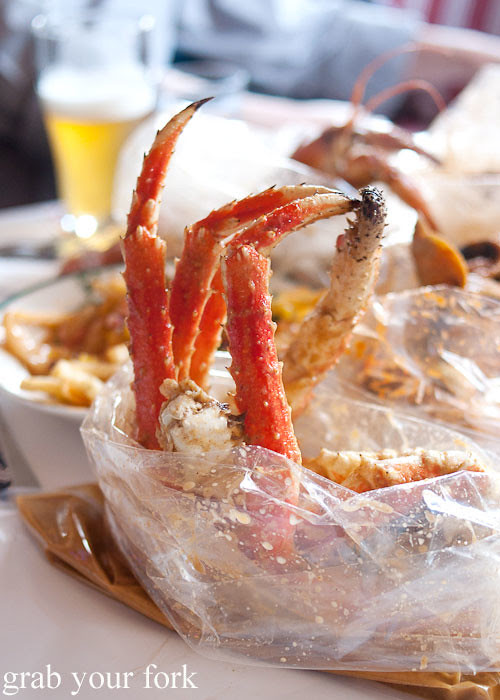 King crab at House of Crabs, Norfolk Hotel, Redfern