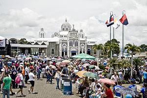 La llegada de romeros a la Basílica de Los Ángeles el pasado 2 de agosto. CRH