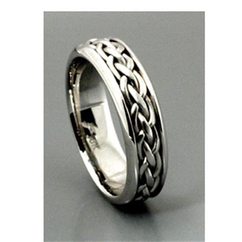 Men's Braided White Gold Band   Samuel Jewels #128
