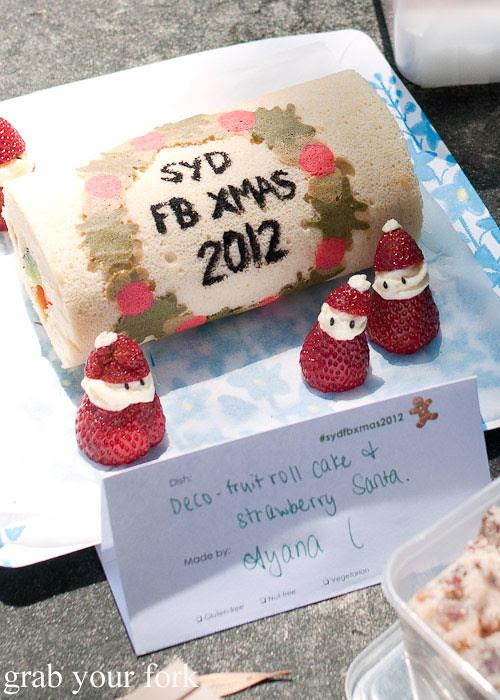 swiss roll sydney food blogger christmas picnic 2012