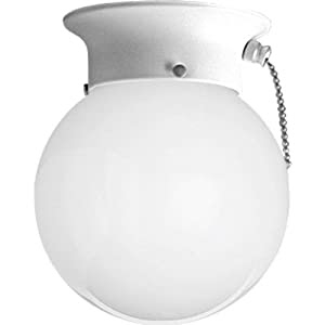 Progress Lighting P3605-30SW Ceiling Fixture with White Glass ...