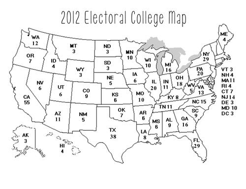 Image Result For United States Electoral Map