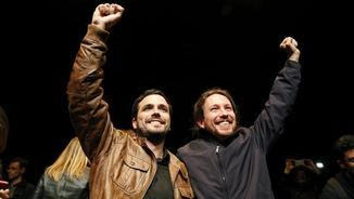 Alberto Garzón i Pablo Iglesias aniran junts el 26-J (EFE)