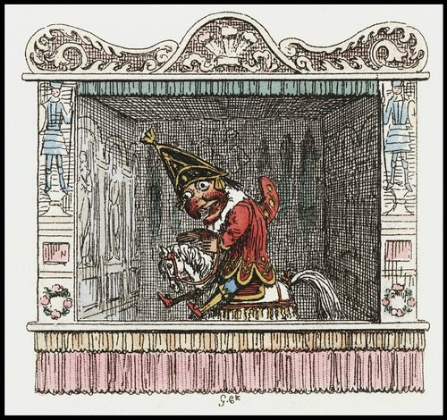 Punch and Judy by George Cruikshank, 1828 a