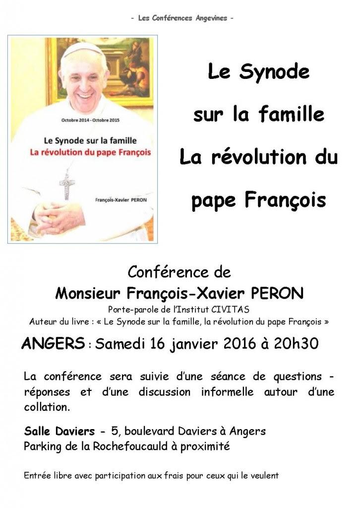 2016-01-16 François-Xavier Peron - Le Synode sur la famille