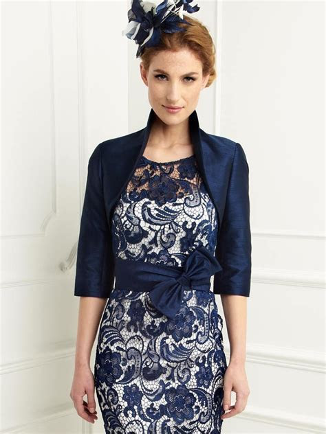 Navy Blue Mother of The Bride Dresses Lace Appliques Knee