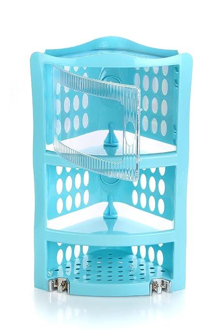 Nayasa Plastic Corner Rack Big, Blue