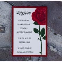 Red Rose Wedding Invitation inspired by the Beauty and the
