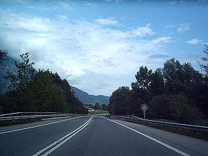 English: A8 Autostrasse Switzerland. DF08 2004...