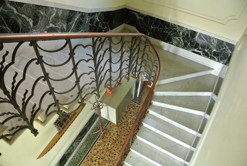 Staircase from Main Level to Student Rooms