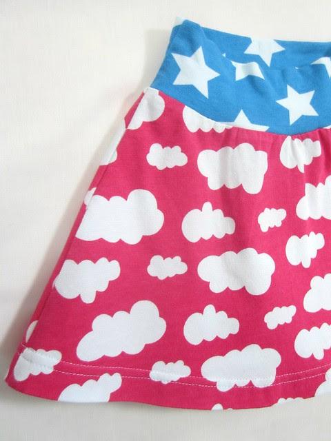 fuchsia cloud skirt detail