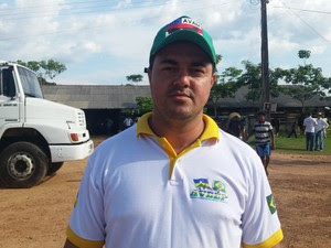 Cleber Aguiar, vice-presidente da Aveep, diz que não há maus tratos a animais em vaquejada (Foto: Toni Francis/G1)