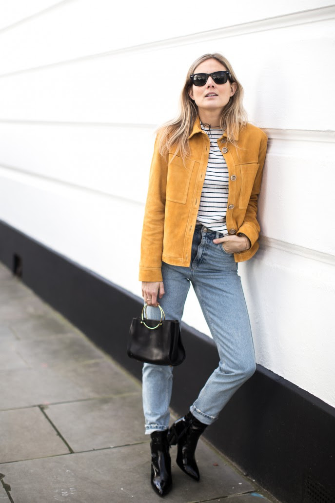 Fashion Me Now | Mustard Suede & Stripes_-5