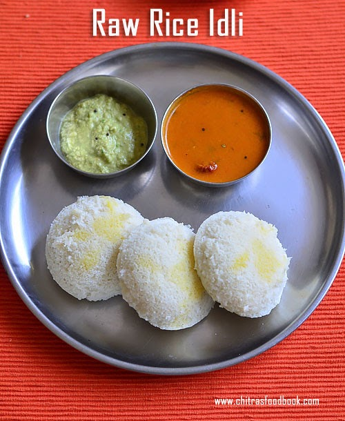 Raw Rice Idli Recipe | Pacharisi Idli Recipe | Idli Using ...
