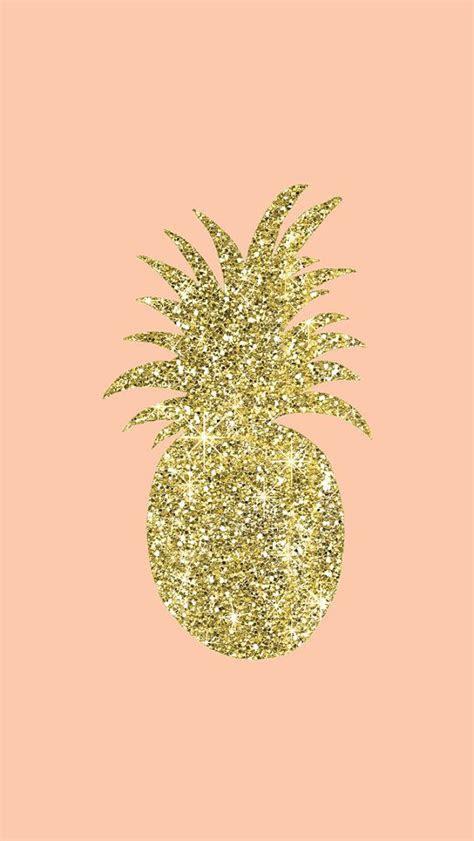 gold glitter pineappleiphone wallpaper digital