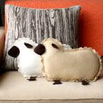 Cuscino pupazzo a forma di pecora - Tutorial e Cartamodello