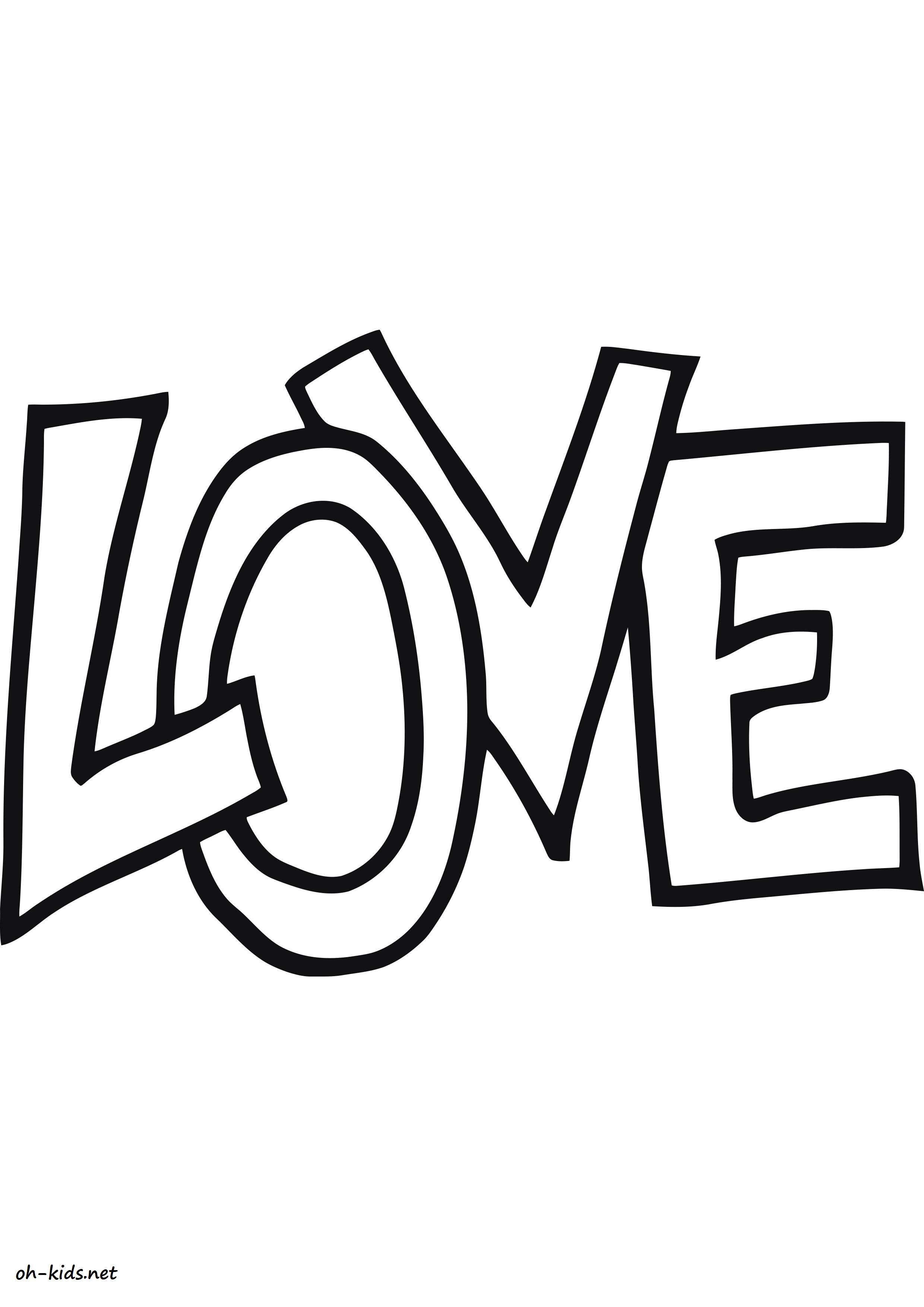 Dessin 770 Coloriage Tag Love à Imprimer Oh Kidsnet