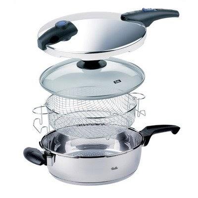 Cheap Deals On Fissler Blue Point 4 Quart Pressure Cooker Frying Pan 4 Piece Set Electric